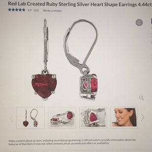 Valentine's Day Ruby lab created earrings